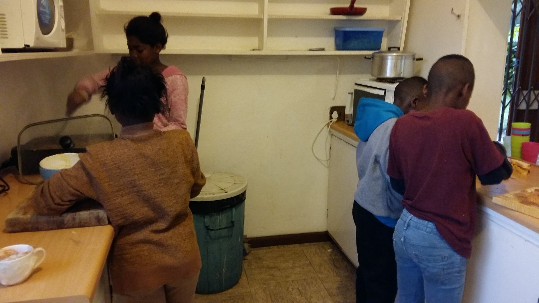 Hout Bay Music Project children – enjoying their time in the kitchen